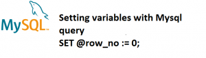 Setting variables with MySQL Query