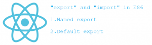 Export and import in ES6